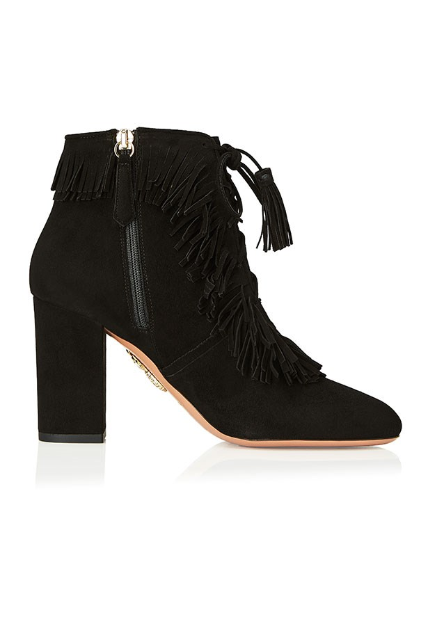 Very Pascaline, Suede Fringe Bootie, Black–$1350.