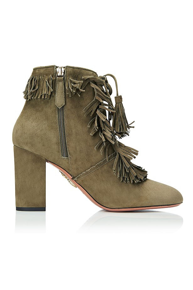 Very Pascaline, Suede Fringe Bootie, Truffle–$1350.