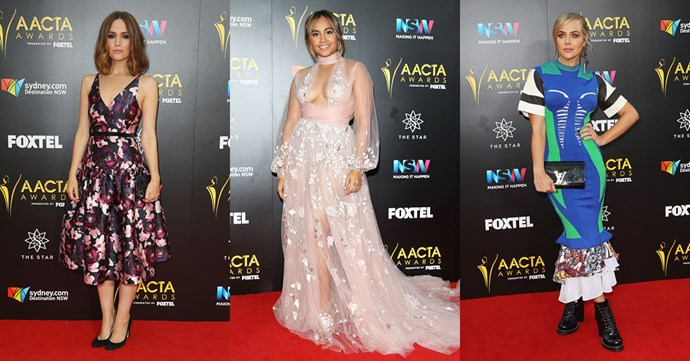 <p>Check out all the style from the 2016 AACTA Awards red carpet, featuring Rose Byrne, Isla Fisher, Jessica Marais and more.