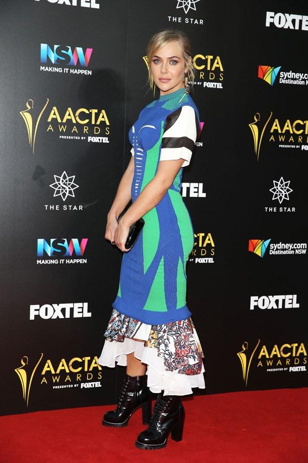 <p>Jessica Marais in Louis Vuitton.
