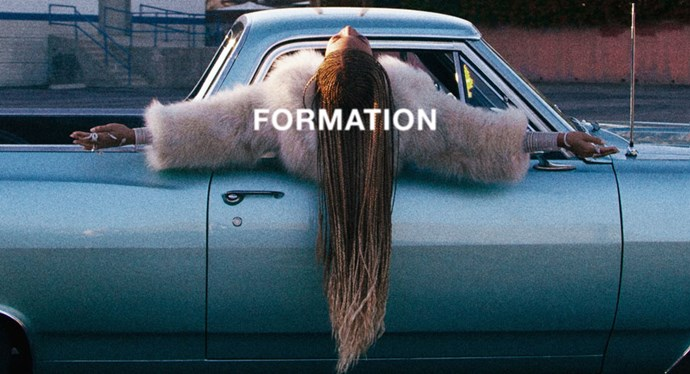 "<a href=""https://www.youtube.com/watch?v=LrCHz1gwzTo""><strong>""Formation,"" Beyonce</strong></a> <br><br> It was the call heard 'round the world: ""Okay ladies, now let's get in formation."" Beyoncé's first single from <em>Lemonade</em>, strategically dropped the day before she was scheduled to take the Superbowl halftime stage with Coldplay, is a political, no-holds-barred account of what it means to be black in America today, with all of its beauty and fraughtness. It also continues to be an ode to slaying all day, and a reminder to ""always stay gracious; best revenge is your paper."""