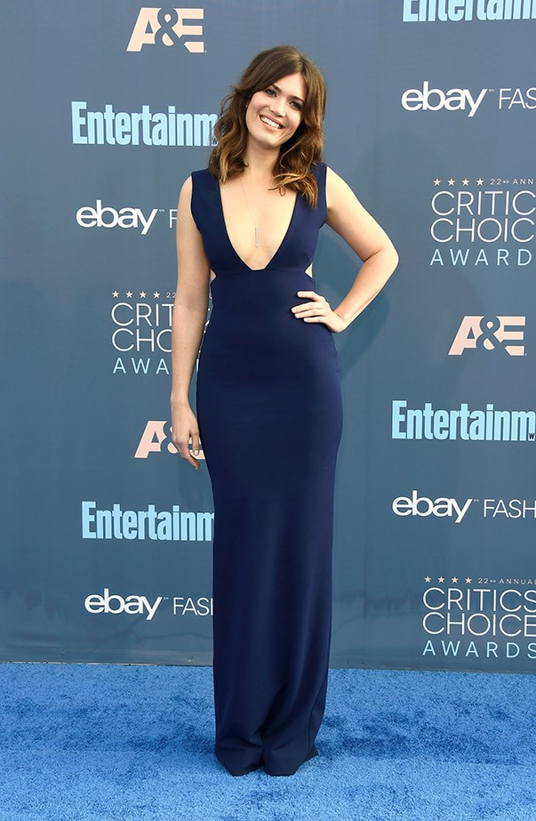 <p>Mandy Moore in Solace London.