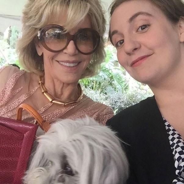 <p><strong>Jane Fonda and Lena Dunham</strong> <p>Female powerhouse friends.