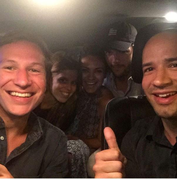 <p><strong>Mila Kunis, Ashton Kutcher and Princess Beatrice</strong> <p>Uber-riding friends.