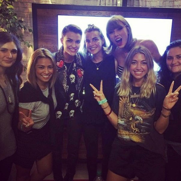 <p><strong>Taylor Swift and Ruby Rose</strong> <p>Squad-loving friends.