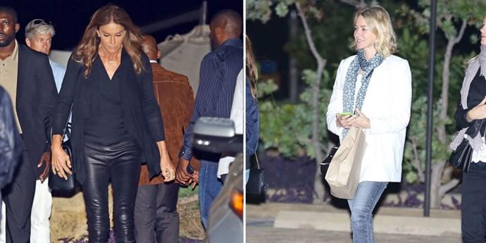 <p><strong>Caitlyn Jenner and Naomi Watts</strong> <p>Nobu-sushi-noshing friends.