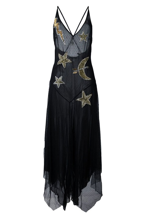 "Amen dress, $890 from <a href=""https://www.farfetch.com/au/shopping/women/amen-embellished-star-dress-item-11624771.aspx?storeid=9258&from=listing&rnkdmnly=1&ffref=lp_pic_119_5_"">farfetch.com</a>."