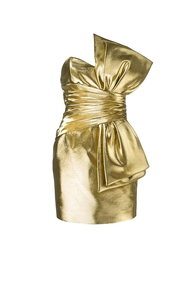 "Saint Laurent dress, $4,432.50 from <a href=""https://www.farfetch.com/au/shopping/women/saint-laurent-bow-mini-dress-item-11575154.aspx?storeid=9544&from=listing&rnkdmnly=1&ffref=lp_pic_78_3_"">farfetch.com</a>."