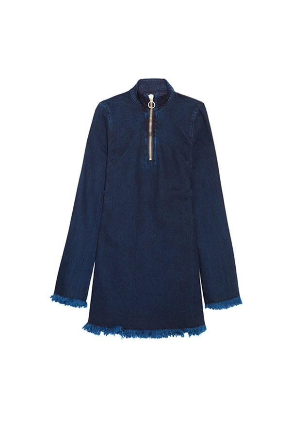 "Marques' Almeida mini dress, was $610, now $366, <a href=""https://www.net-a-porter.com/au/en/product/759364/marques__almeida/frayed-denim-mini-dress"">Net-a-Porter</a>"