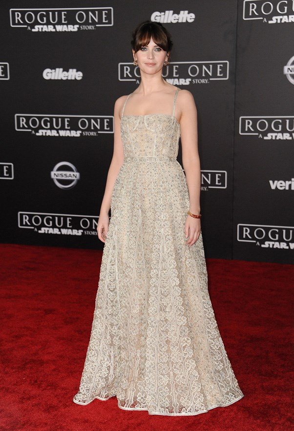 <p><strong>FELICITY JONES IN CHRISTIAN DIOR</strong> <br><br> Felicity Jones spent the year as a red-carpet fixture. Her latest style win was a princess-like Christian Dior gown at the premiere of <em>Rogue One: A Star Wars Story.</em>