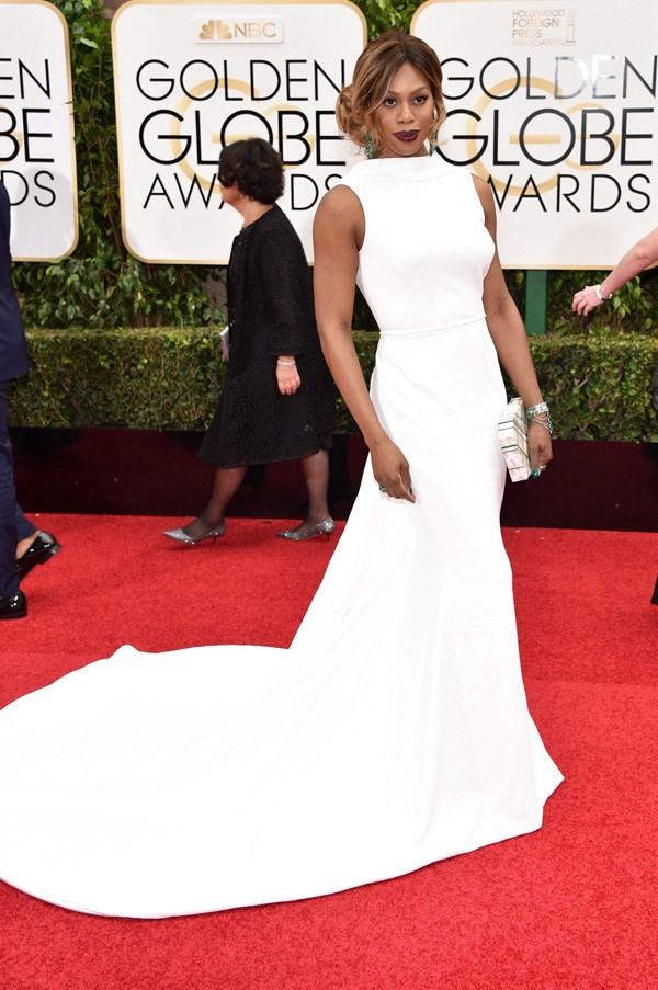 <p><strong>LAVERNE COX IN ELIZABETH KENNEDY</strong> <br><br> Laverne Cox's most elegant red-carpet moment to date came courtesy of Elizabeth Kennedy at the Golden Globes.