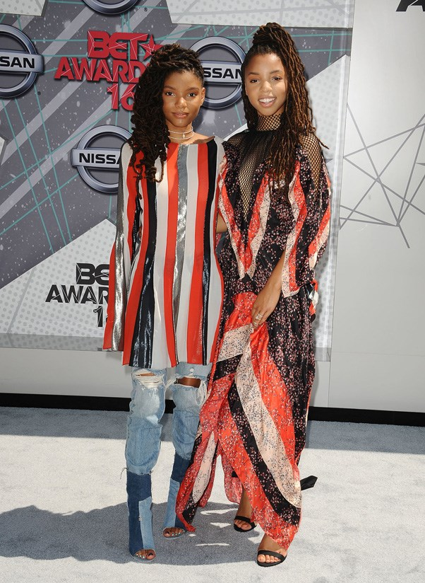 <P><strong>CHLOE AND HALLE BAILEY IN ZALDY</strong> <BR><BR> Chloe and Halle Bailey' complementary Zaldy pieces (plus Levi's for Halle) defined cool sister style at the BET Awards.