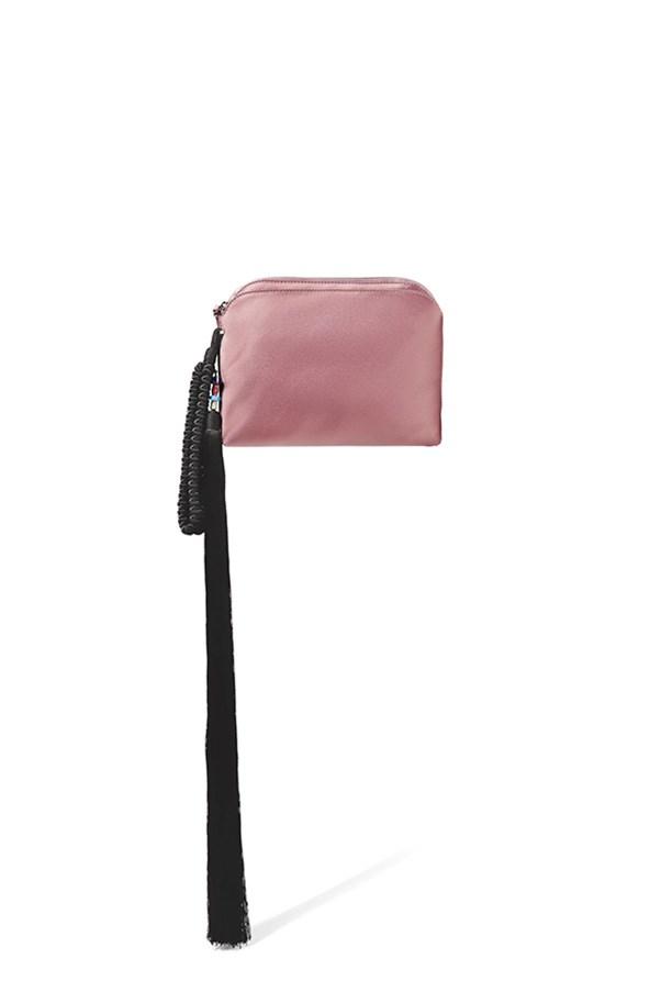 "The Row clutch, $1,797, <a href=""https://www.net-a-porter.com/au/en/product/684796/the_row/wristlet-tasseled-silk-satin-clutch"">Net-a-Porter</a>"