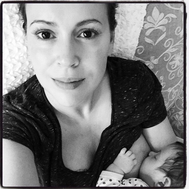 "<p><strong>Alyssa Milano</strong> <p>""Ah, the joy of suckling! She lovingly watched the fishlike motions of the toothless mouth and she imagined that with her milk there flowed into her little son her deepest thoughts, concepts, and dreams."" ~Milan Kundera"