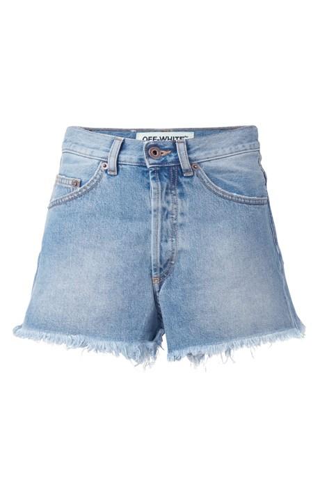 """<p>Raw Edge Denim Shorts, $266, <a href=""""https://www.farfetch.com/au/shopping/women/off-white-raw-edge-denim-shorts-item-11662395.aspx?storeid=9954&from=search&ffref=lp_pic_55_10_"""" target=""""_blank"""">Off-White at farfetch.com</a>."""