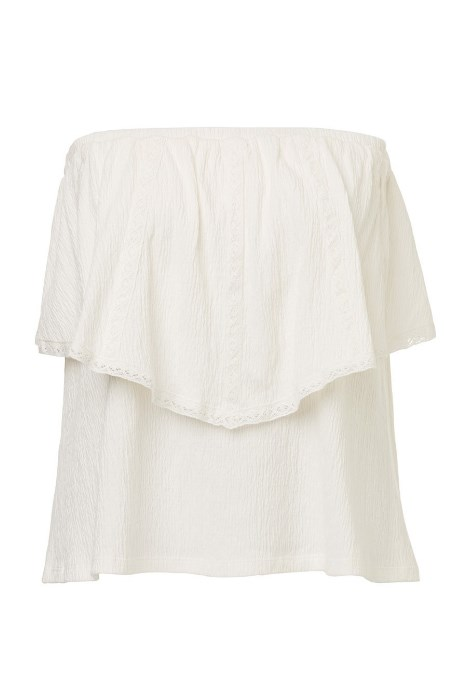 "<p>Bandeau Lace Trim Top, $59.95, <a href=""http://www.sportsgirl.com.au/clothing/tops/bandeau-lace-trim-top-cream"">Sportsgirl</a>."