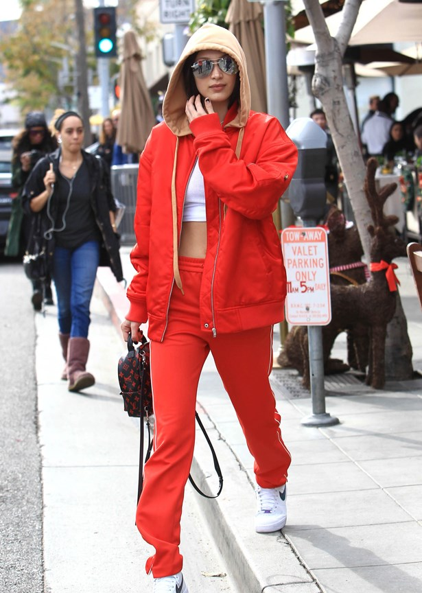 <p> <strong>Go monochrome</strong><p> <p> Although the '80s may have advocated for it, when wearing a tracksuit, sticking to one colour can make styling easier. Pick one shade and then add complementary—not contrasting—colours as accessories or underwear.