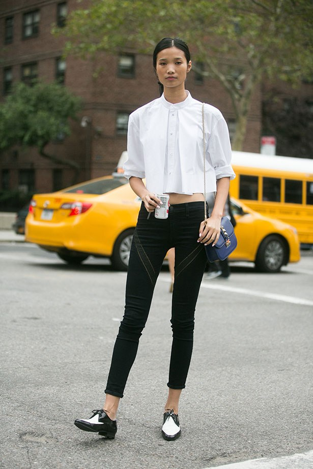 <strong>1. Make Yourself A Day-To-Day Uniform </strong> <br></br> And no, we don't mean the dress-up type. Find yourself a classic, pattern-free ensemble (a crisp white shirt and cigarette trousers or a blazer and tee combo are perfect) that typifies you style and wear it when you just can't be bothered to think about what to wear.