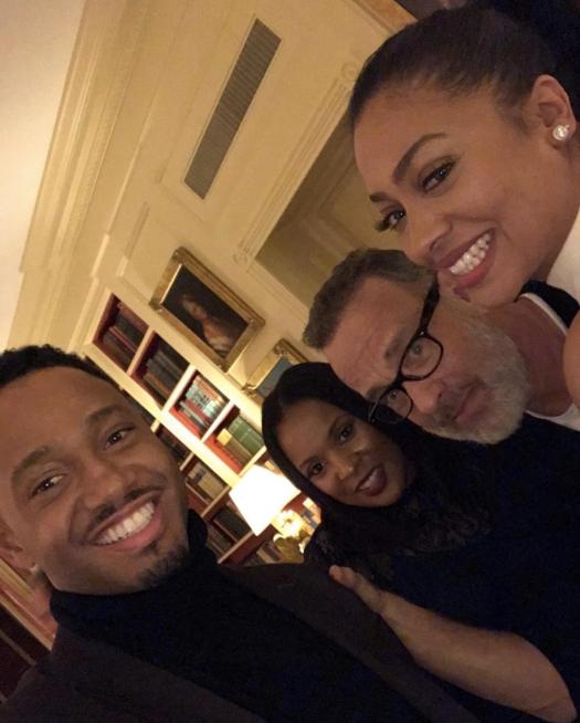 "Terrance J, News Caster, Tom Hanks and La La Anthony <br><br> <a href=""https://www.instagram.com/p/BO-Y97ADfc6/"">@lala</a>"