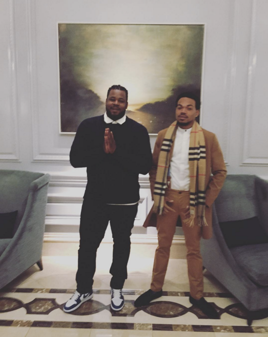 """Reesey Money and Chance The Rapper <br><br> <a href=""""https://www.instagram.com/p/BO9Yar8FVVe/"""">@reeseynem</a>"""