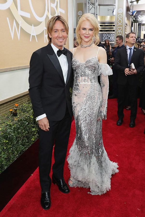 Keith Urban and Nicole Kidman in Alexander McQueen.