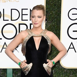 Blake Lively at the 2017 Golden Globes.