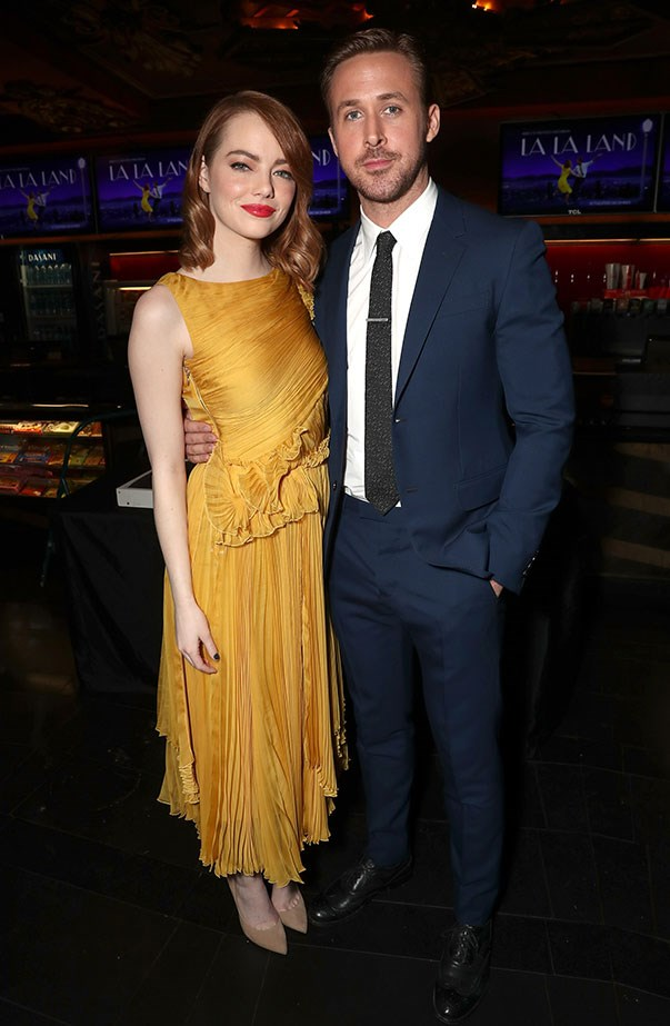 <p>Another yellow dress! Emma wore Rochas for her and Ryan Gosling's hand and footprint ceremony at the TCL Chinese Theatre.