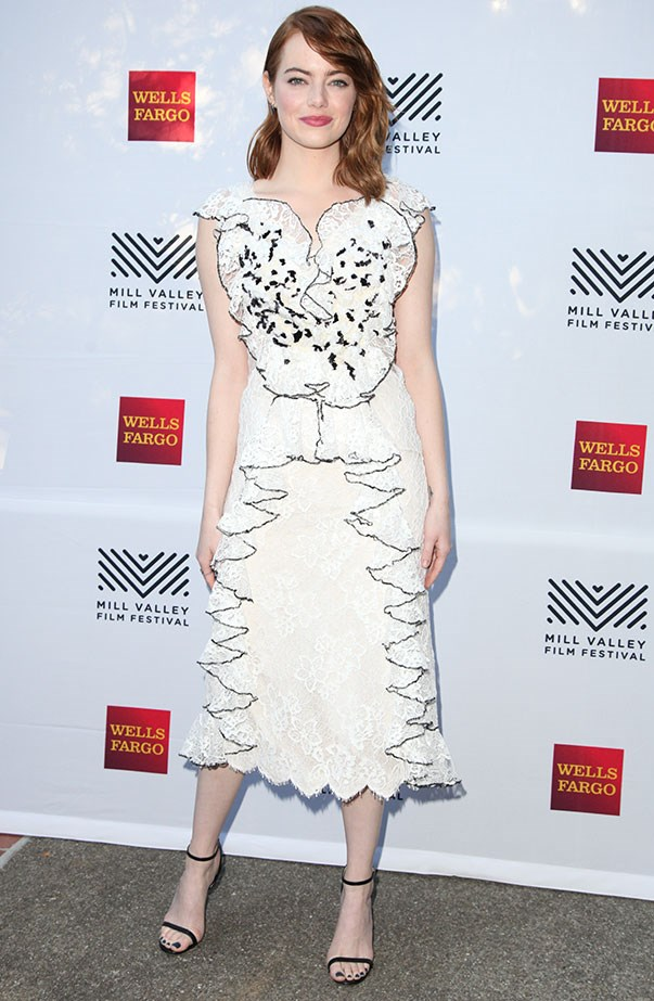<p>Emma wore Rodarte for the 2016 Mill Valley Film Festival opening night celebration.