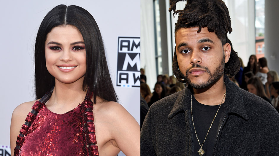 Selena Gomez and The Weeknd.