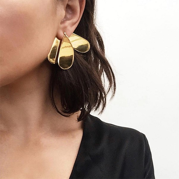 """Ellery's foray into jewellery means cool-girl statement earrings are far easier to come by. Sara Donaldson nails it, naturally.<br><br> Image: Instagram <a href=""""https://www.instagram.com/p/BOVvVFjDXxH/"""">@harperandharley</a>"""