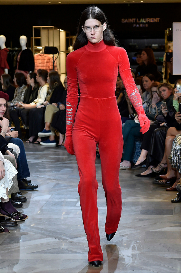 <p>Juicy Couture bringing velour to the runway at Vetement's Paris Couture Fashion Week show.