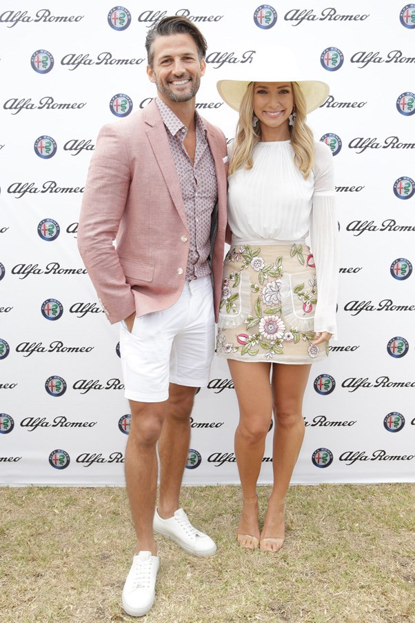 <p>Tim Robards and Anna Heinrich