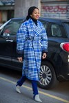 Jacquemus Blue Check Coat Trend