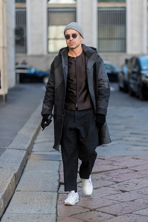 <strong>2. Become a master of monochrome</strong><br><br> Let's be real: Everyone says their aesthetic is 'monochrome' (Also known as the 'I only wear black' train of fashion thought), but how many of you can say you've worn <em>six</em> shades of black/grey in your outfit at once? This is monochrome mastery, and proves that a nuanced understanding of colour elevates an outfit from boring (imagine if this was head-to-toe black instead?) to show-stopping.