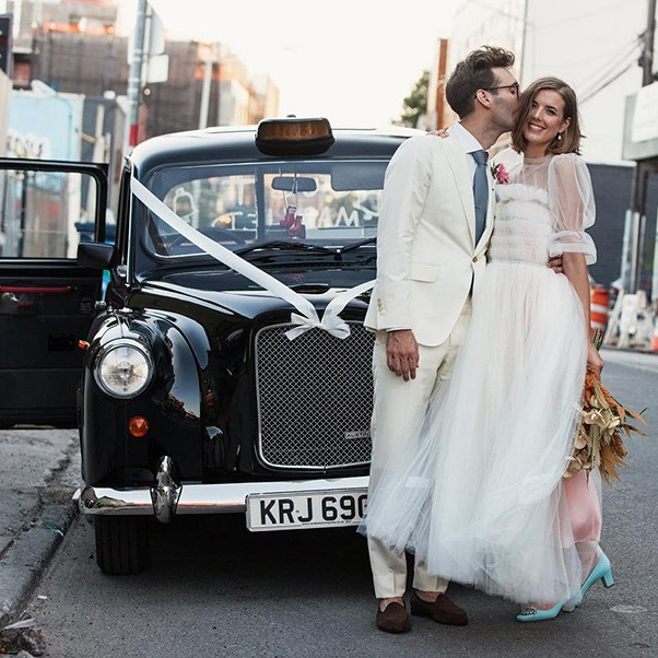 "Agyness Deyn in Molly Goddard on her wedding day.<br><br> Image: Instagram <a href=""https://www.instagram.com/p/BJv0u3PBNzk/"">@aggy_deyn</a>"