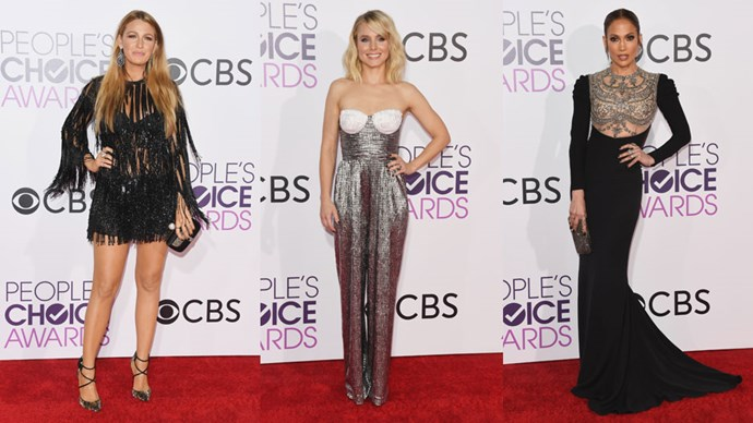 <em>ELLE</em> rounds up all the must-see red carpet looks from the 2017 People's Choice Awards.