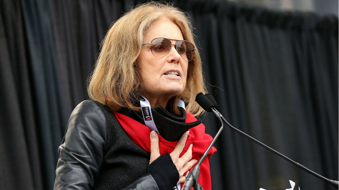 "<p><strong>Gloria Steinem</strong> <br><br> ""God may be in the details, but the goddess is in connections. We are at one with each other, we are looking at each other, not up. No more asking daddy. We are linked. We are not ranked. And this is a day that will change us forever because we are together. Each of us individually and collectively will never be the same again."""