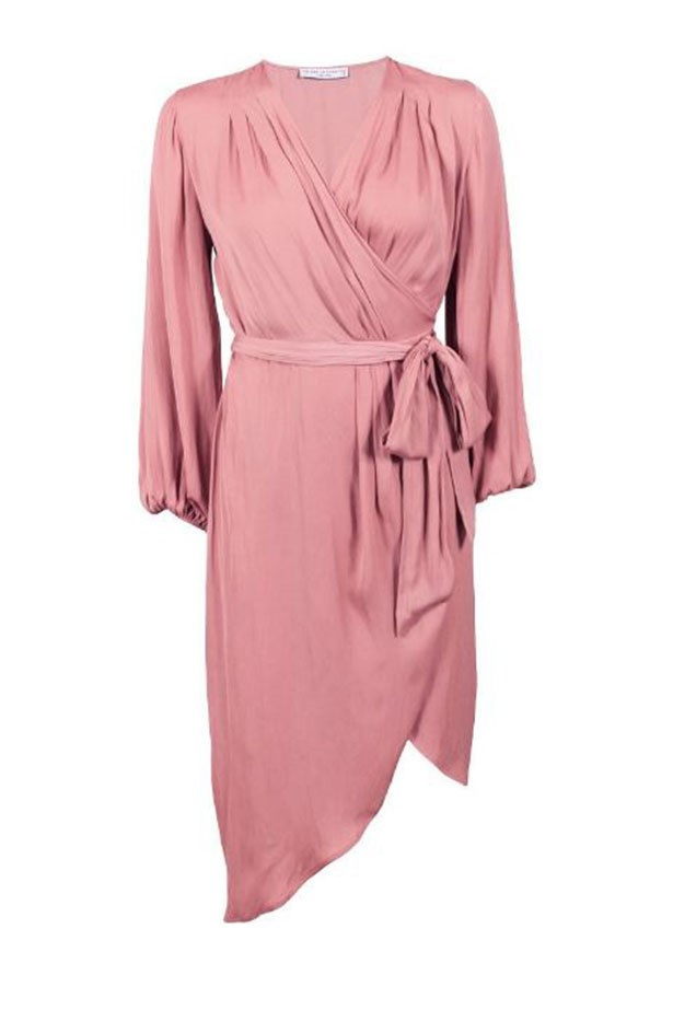 "Dress, $199.95, Decjuba at <a href=""http://www.theiconic.com.au/anthena-wrap-dress-432518.html"">The Iconic</a>."