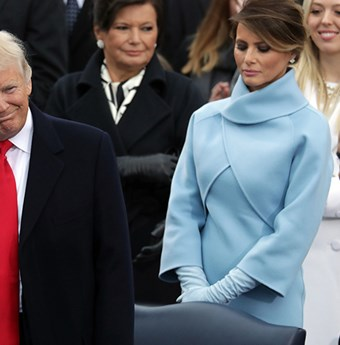 Melania and Donald Trump.
