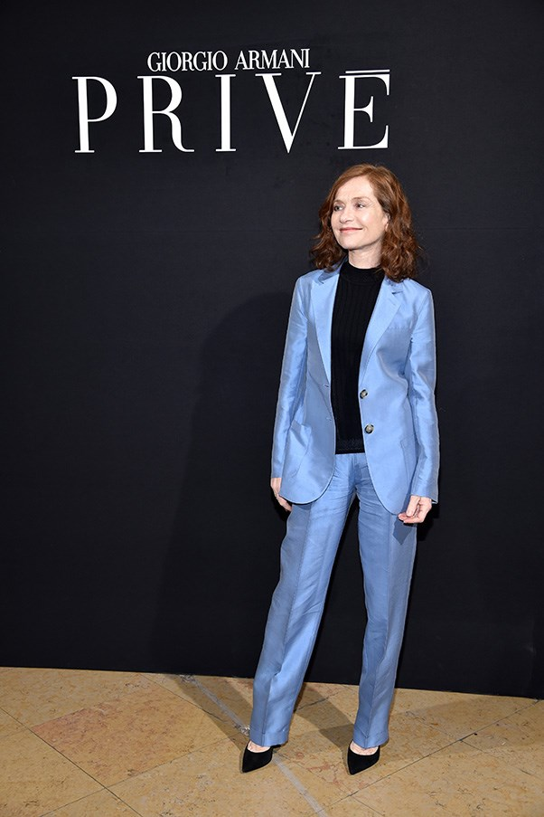 Isabelle Huppert at Armani Privé