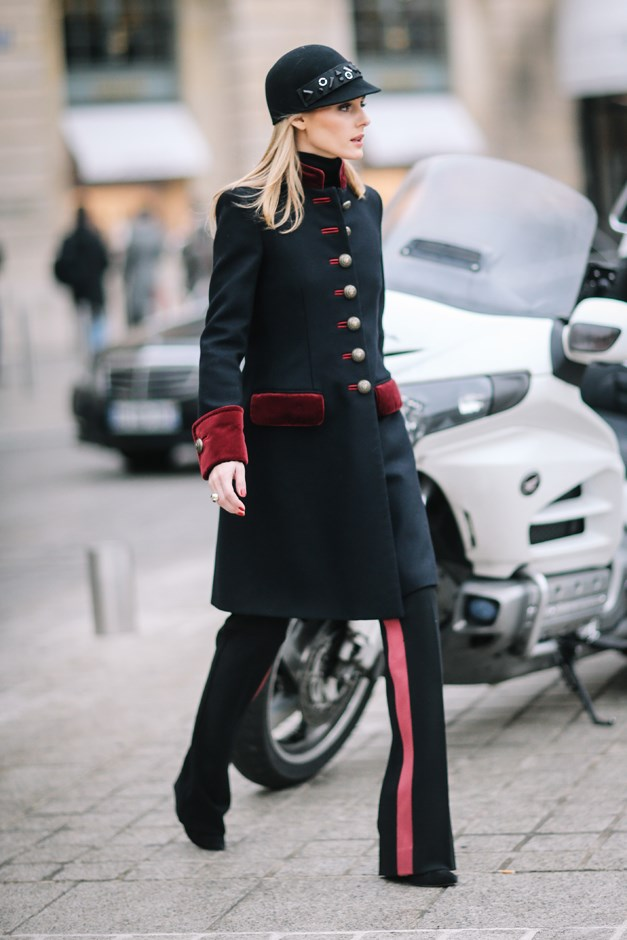 Outside the Alexis Mabille show in Paris.