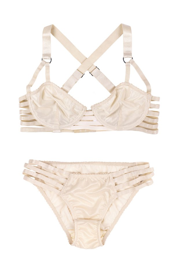 "Lonely Lingerie <br></br> Want quality and effortless cool without compromising on comfort? Then look no further than Lonely. Bra and briefs, $42 and $26 at <a href=""https://lonelylabel.com/products/lulu-strap-brief-shell?taxon_id=11"">Lonely Lingerie</a>."