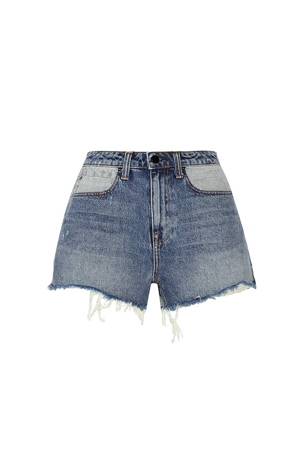 "Alexander Wang shorts, $362 at <a href=""https://www.net-a-porter.com/au/en/product/814800/alexander_wang/bite-distressed-denim-shorts"">Net-a-Porter</a>"
