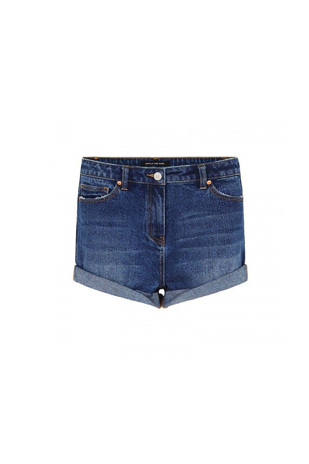 "Camilla and Marc shorts, $199 at <a href=""https://www.camillaandmarc.com/delphine-denim-short-faded-indigo.html#"">Camilla and Marc</a>"
