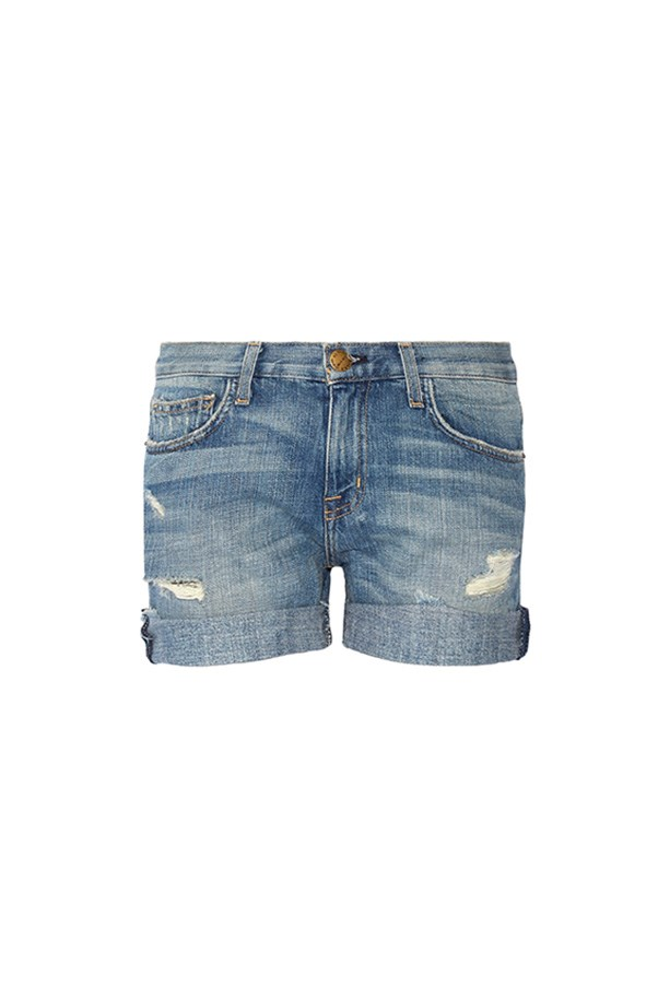 "Current/Elliott shorts, $314 at <a href=""https://www.net-a-porter.com/au/en/product/789750/current_elliott/the-boyfriend-distressed-denim-shorts"">Net-a-Porter</a>"