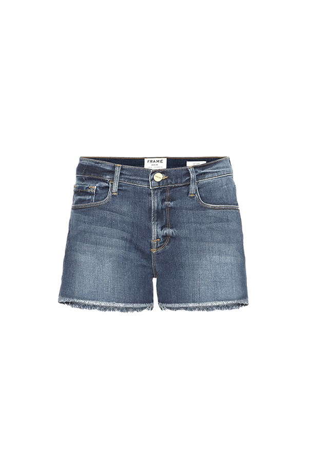 "Frame shorts, $209 at <a href=""http://www.mytheresa.com/en-au/le-cutoff-denim-shorts-598235.html?catref=category#&gid=1&pid=1"">My Theresa</a>"
