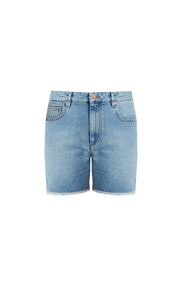 "Isabel Marant Etoile shorts, $235 at <a href=""http://www.mytheresa.com/en-au/le-cutoff-denim-shorts-598235.html?catref=category#&gid=1&pid=1"">My Theresa</a>"