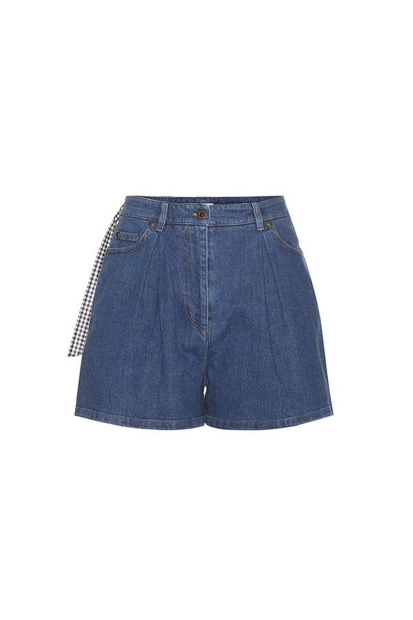 "Miu Miu shorts, $750 at <a href=""http://www.mytheresa.com/en-au/denim-shorts-728579.html?catref=category#&gid=1&pid=1"">My Theresa</a>"
