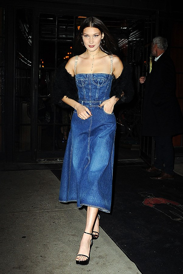 Bella Hadid in Dior while out in New York city.<br><br> Image: Splash