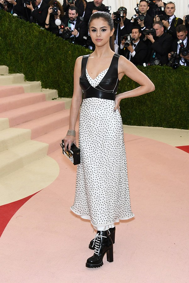 Selena Gomez in Louis Vuitton at the Met Gala.